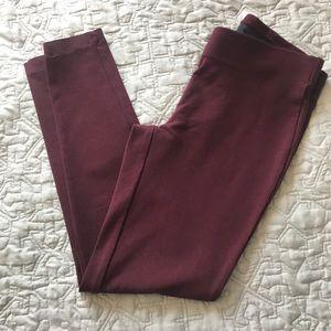 Zac & Rachel Pants - Wine Colored Leggings/Dress Pant